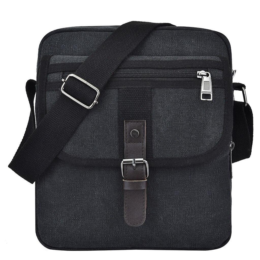 Handbags Men Fashion Pocket Canvas Solid  Unisex Shoulder Tote Handbag Casual Bag Bags For Women 2019 Bolsa Feminina