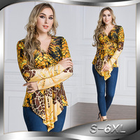 VITIANA 2017 Autumn Women Plus Size Casual Shirt Leopard Print Long Sleeve High Stretch Sexy Elegant