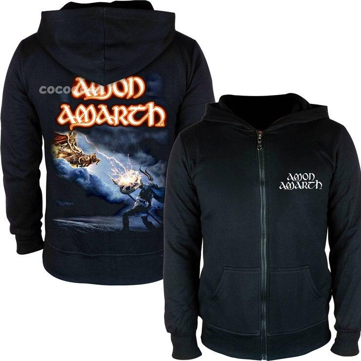 21 конструкции Амон рок молния хлопковые толстовки куртка sudadera панк тяжелый металл 3D череп флис Викинг Толстовка - Цвет: 15
