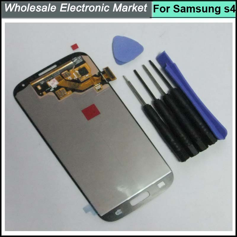 For Samsung Galaxy S4 i9500 i9505 i337 LCD Display Touch Digitizer Screen Blue with logo,Free Tools Free Shipping brand new i9505 lcd screen display for samsung galaxy s4 i9500 i9505 i337 i545 lcd with touch digitizer glass panel frame