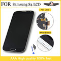Lcd i9500 para samsung galaxy s4 i9500 i9505 i337 lcd display + touch screen digitador assembléia quadro + moldura de vidro