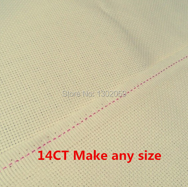100x50cm Embroidery Fabric Light Beige Buff Cream Coloured Top Grade