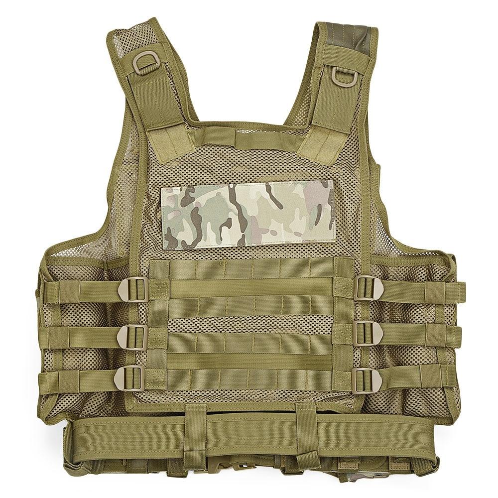 Outdoor Tactical Vest Men Military Tactical Vest Hunting Camouflage Vest Body Armor Molle Equipment Jungle Shoulder Straps Vests (1)