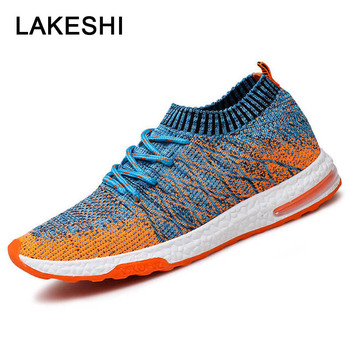 d6113474 Hombres zapatos casuales zapatos de los hombres zapatillas de deporte de  malla de aire Zapatos Zapatillas de deporte de moda de verano transpirable  hombres ...