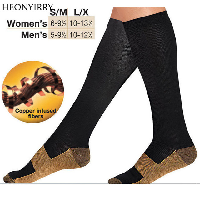 376f140c78 Anti-Fatigue Compression Socks Great for travel Varicose veins Women and  Men's Miracle copper socks Leg Massager