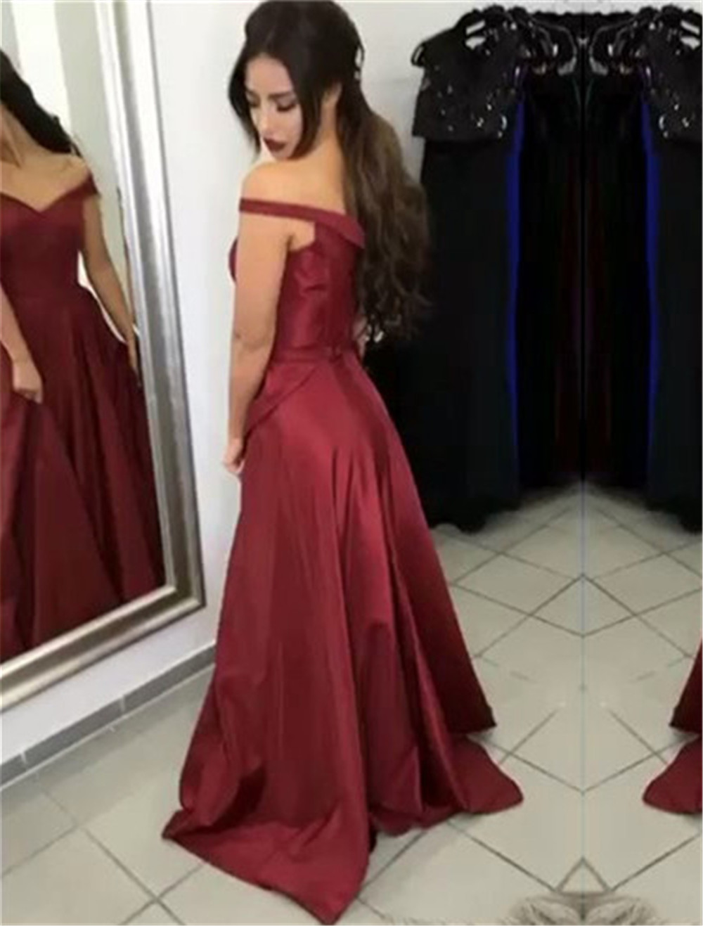 Burgundy Satin Special Occasion Dress Bridesmaid Dresses A line Sweetheart Zipper Wedding Party Dresses Sleeveless Formal in Bridesmaid Dresses from Weddings Events