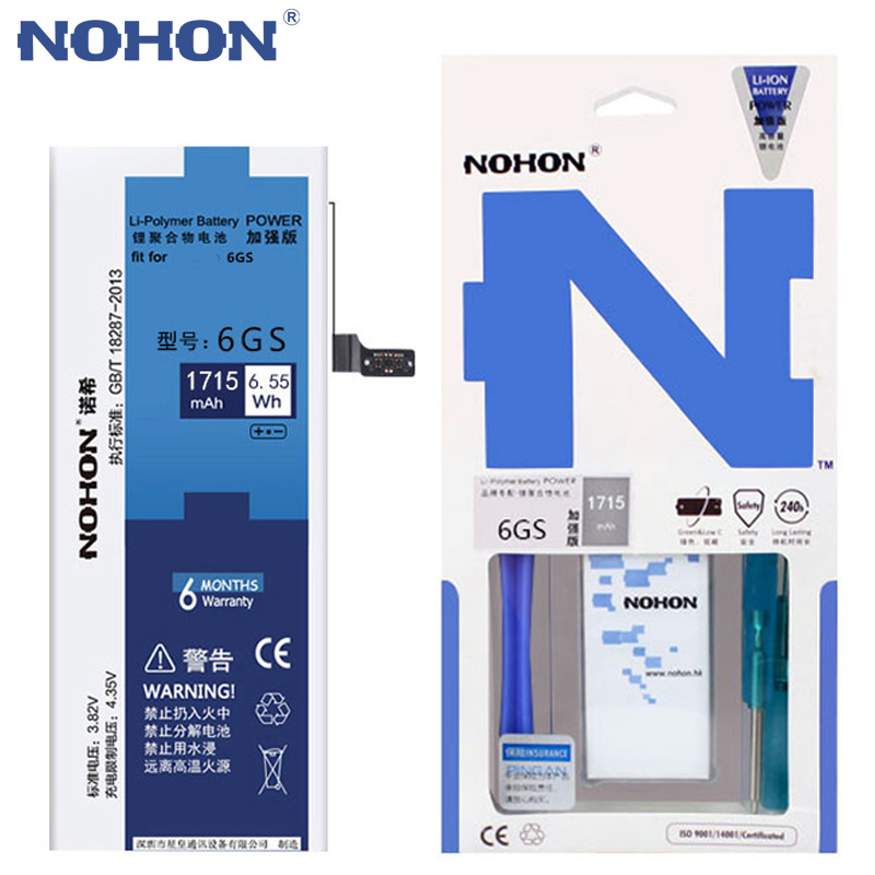NOHON Batterie iPhone6s Cell-Phone-Replacement Original for Backup Free-Tools In-Stock