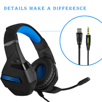 BVNW Gaming Headphones E sports headset wired gamer Earphone Microphone for PS4 Laptop mobile phone desktop computer recording