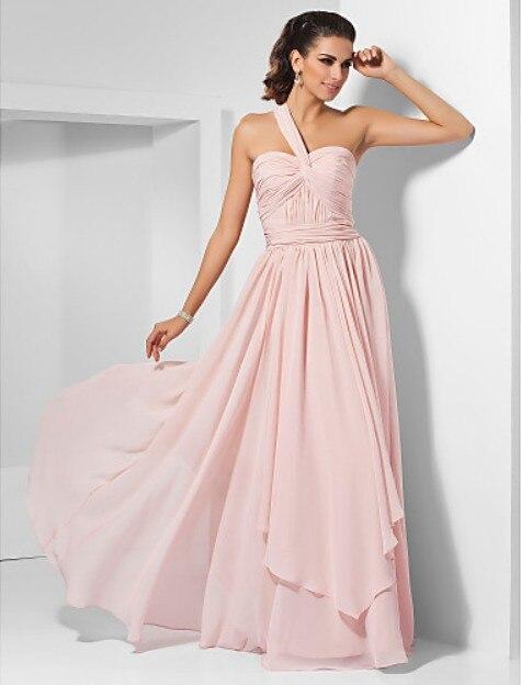 dresses   new fashion 2014 hot&sexy vestidos de festa casual   dress   formal   dress   elegant party pink long custom   Bridesmaid     Dresses