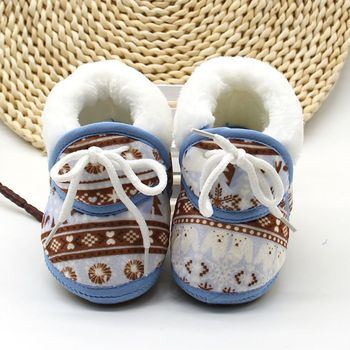 Baby Shoes for Newborns Infant Soft Soled Footwear Walking Shoes Winter Toddler Keep Warm Print First Walkers Shoes for babies 1