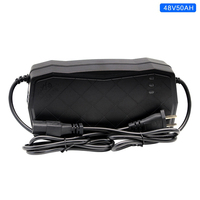 EU/US Standard 48V Charger Lead Acid Smart Auto Electric Scooter Battery Charger Power Supply 48V 50AH 5.5A AC220V 205*102*65mm