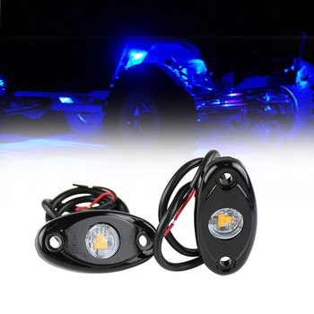 RGB LED Rock Lights Waterproof Undercar Light Multicolor Neon Shockproof Car Underbody Glow Trail Rig Lamp Underglow LED Neon image