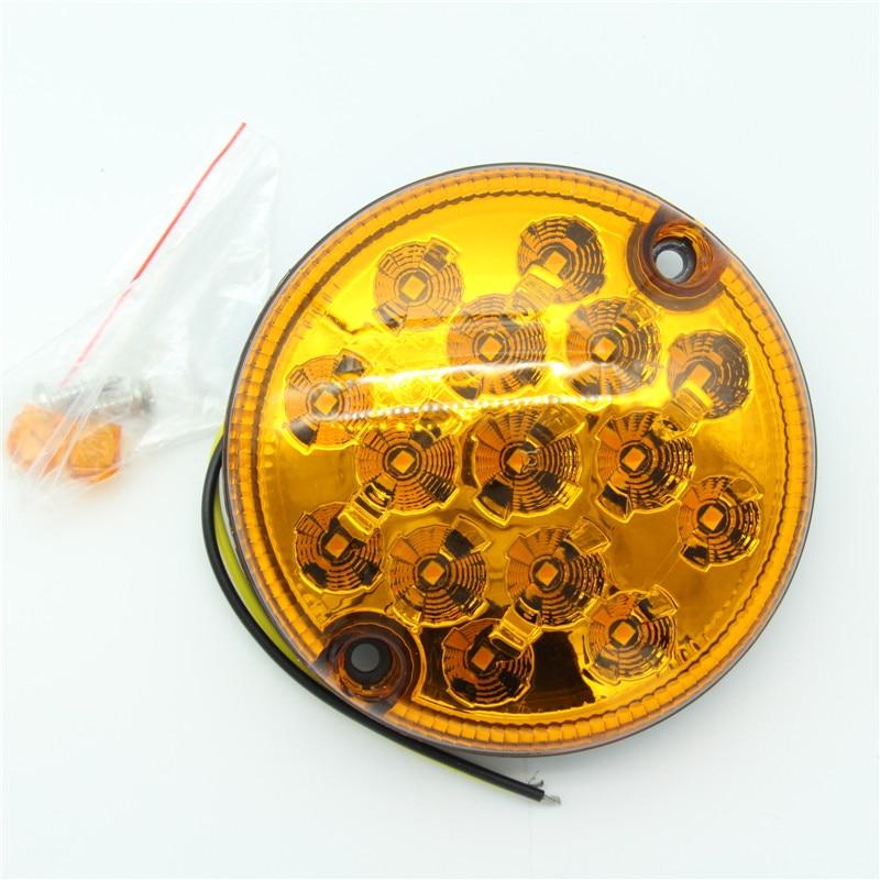 2Pcs 12V / 24V უნივერსალური 95 მმ LED - მანქანის განათება - ფოტო 4