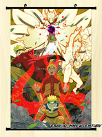 Japan Wall Scroll naruto Sage Mode Tailed Beast Mode Home Decor poster