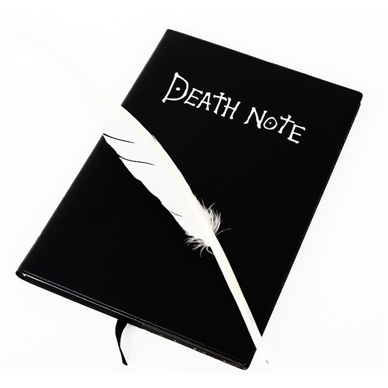 Death Note Planner Notebook School Stationery Store Cute Feather Pen Diary Book Travel Journal Kawaii Cosplay Office Accessory