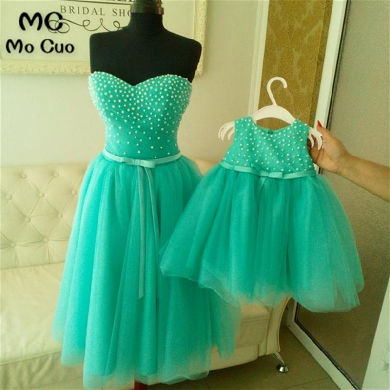 2018 Sweetheart Flower Girl Dress For Weddings First Communion Dresses For Girls Mother And Daughter Matching Party Dresses
