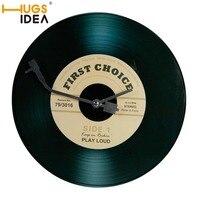 HUGSIDEA 60 60cm Retro Design Vinyl Record Round Area Rug Memories Floor Door Carpet Music Discs
