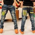 2016 осень и зима Корейских детей джинсы для мальчиков брюки детская одежда большие мальчики весна джинсы