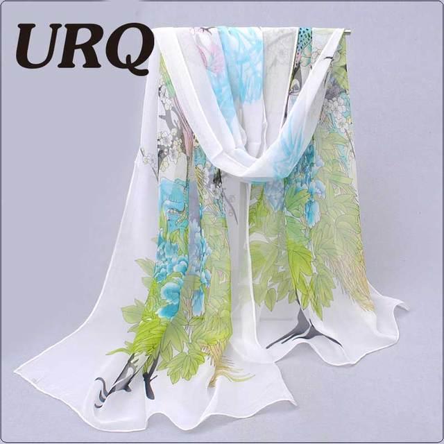 Designer Long Chiffon Silk Scarf