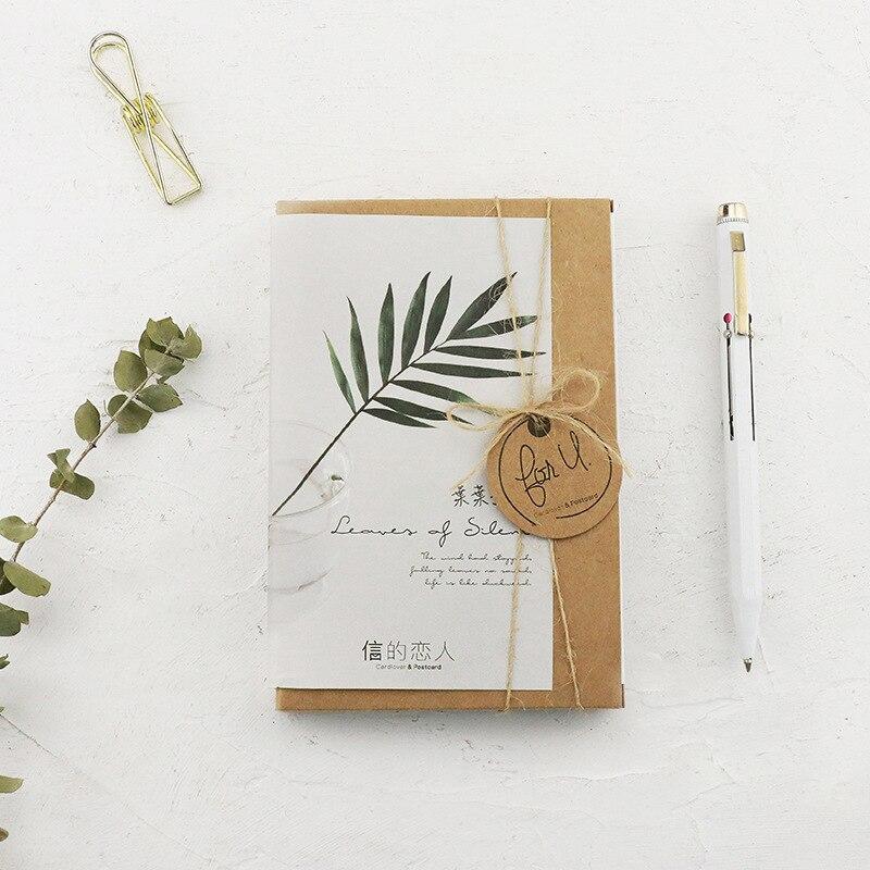 30 Sheets/Set  Silent Leaves Postcard/Greeting Card/Message Card/Birthday Letter Envelope Gift Card