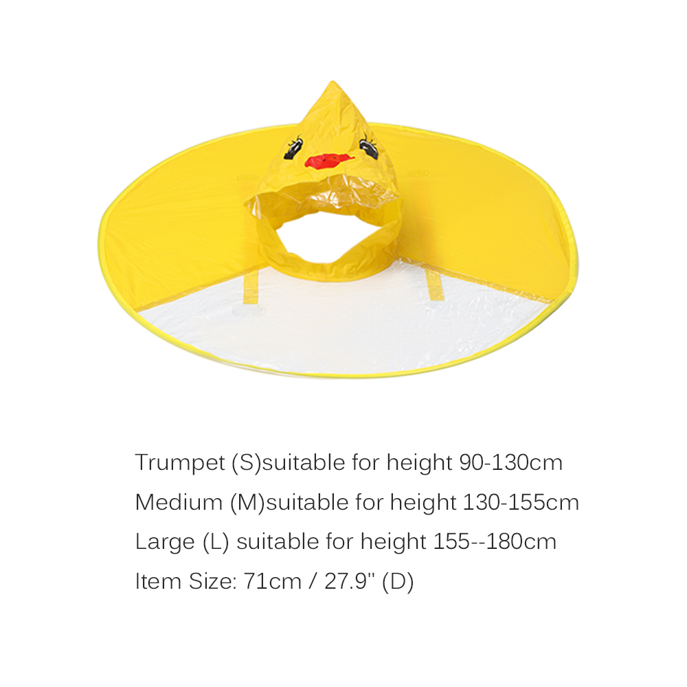 Yellow Duck Kids Raincoat UFO Cap Umbrella Automatic Folding Umbrella  Children Hat Creative Raincoat Gift Student Woman Rain Hat 0bd0464cb697