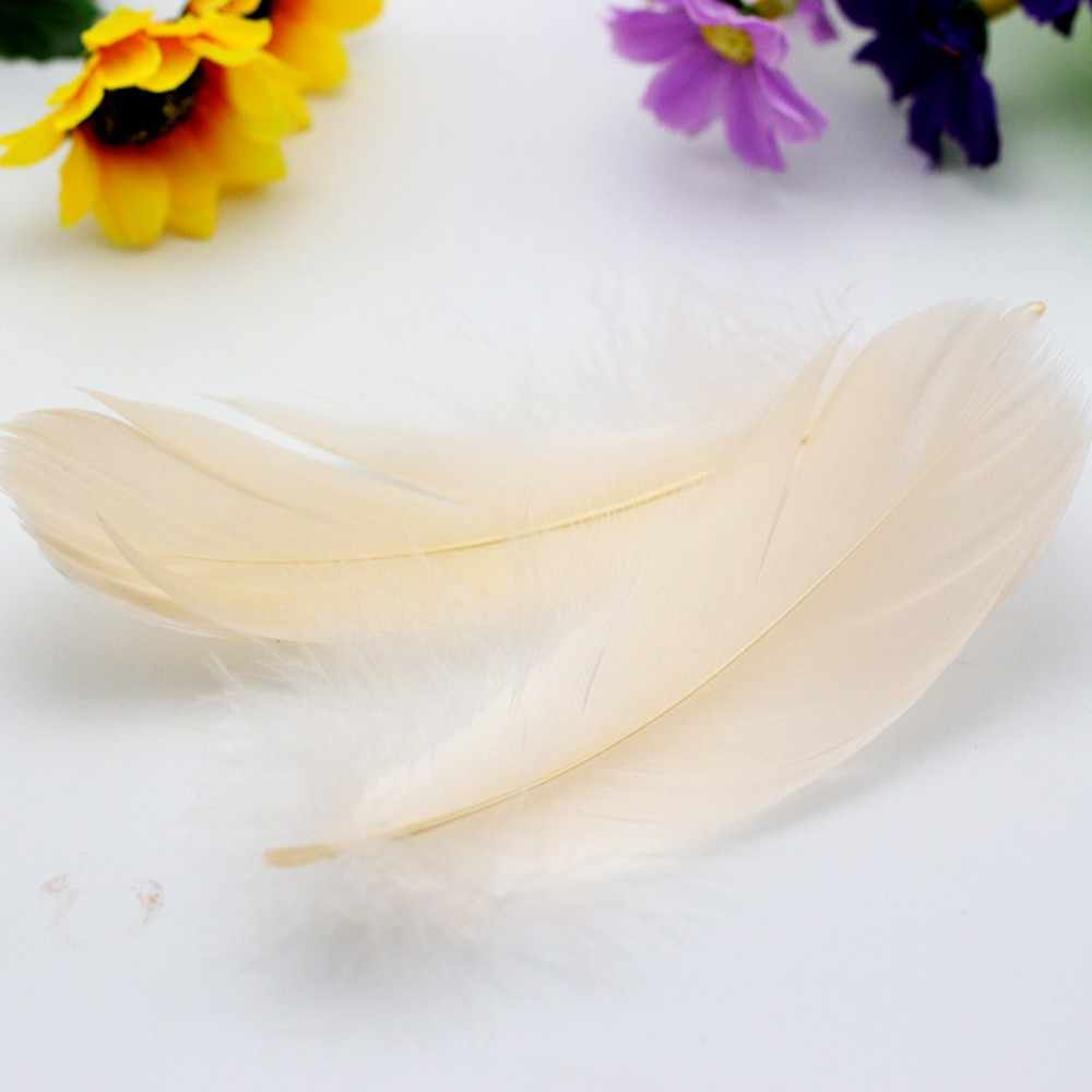 New 100pcs Beautiful Natural Goose Feather Decoration 8-12cm 13 Colors Brand Suitable for skirts / dresses / apparel party craf