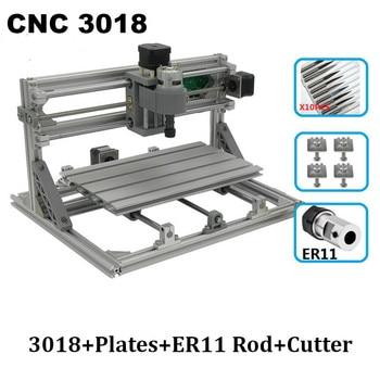 CNC Laser Engraver 3018 PRO Engraving Machine with ER11,3 Axis Pro GRBL Control Engraver,DIY Pcb PVC Milling Machine