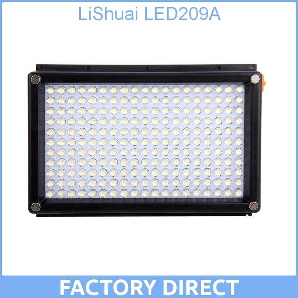 LiShuai LED209A 209A 209 LED Camera Video Lighting Light Lamp for Camcorder DSLR 1 4 lcd 6 led white light video lamp for camera camcorder 4 x aa