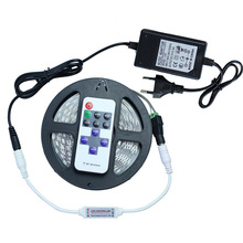 5050 LED Strip Light Dimmable 300Leds Non-waterproof With 11Key RF Remote Controller + 12V3A Power Adapter For Indoor Lighting