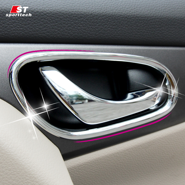 Car Styling Inner Door Handle Trim Cover For Nissan X Trail Rogue 2014 2017