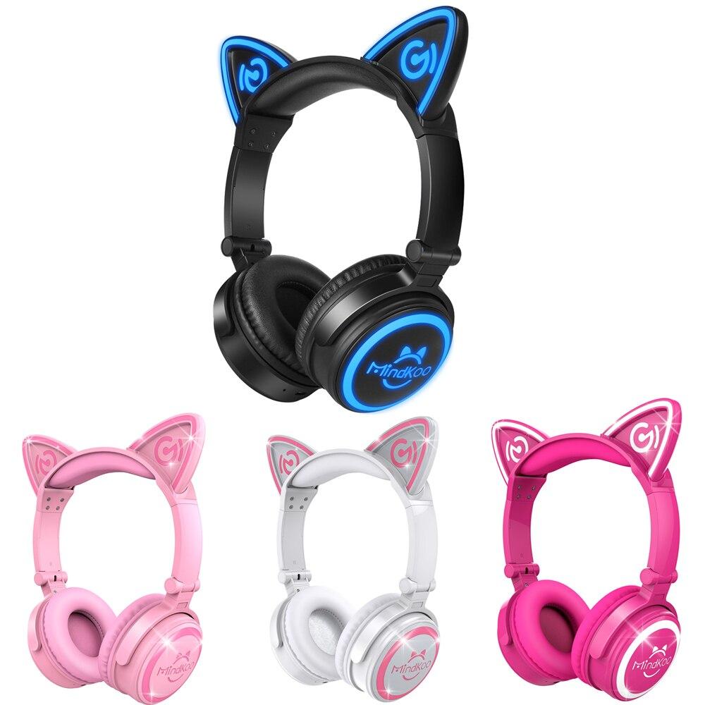 Alta Qualità Fone de ouvido Mindkoo Cat Ear Cuffia Pieghevole Wireless Bluetooth Cuffie Cuffie con Microfono Quattro Colori