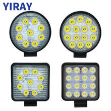 YIRAY off road 27W 42W 48W led Work Light For 24v 12v Car Accessories Spotlight 4X4 SUV Jeep Truck Boat Bus Lamp weketor