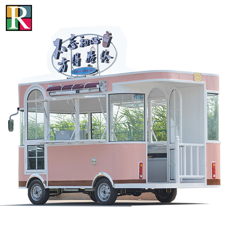 320cm length Electric mobile food cart electric mobile food cart street food cart shipping by sea to seaport or EXW price
