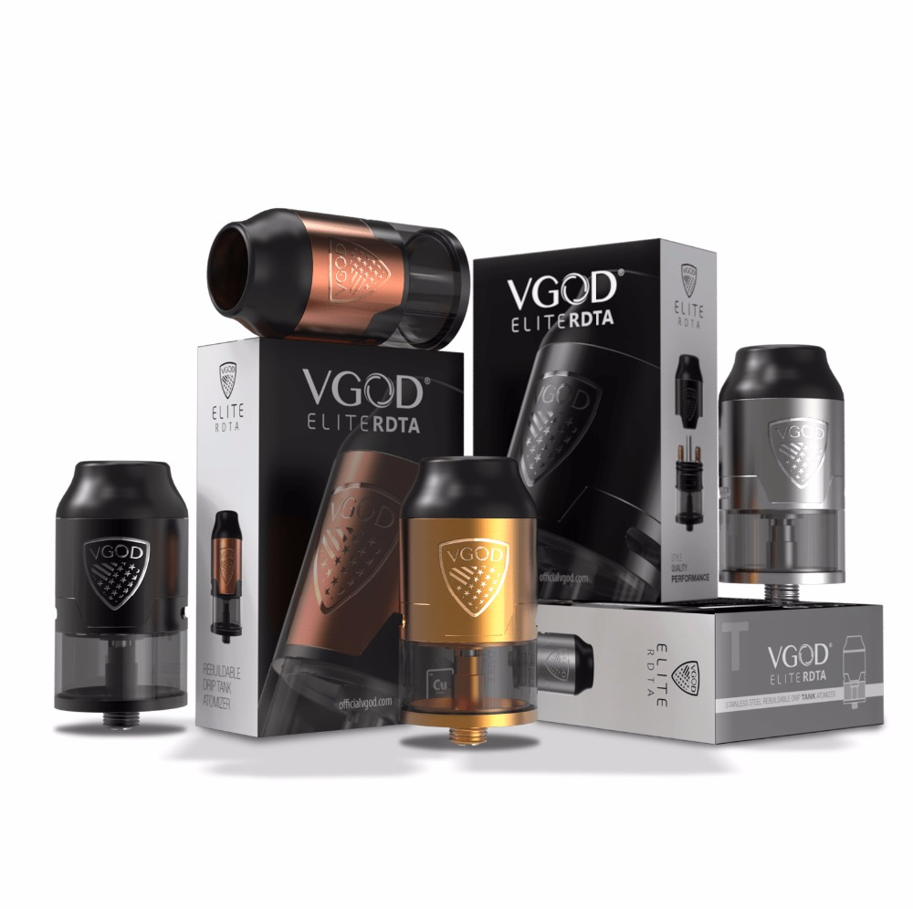 New arrival Original VGOD Elite RDTA Tank 24mm Rebuildable Dripping 510 fit elite/pro mech Mod Kit Electronic Cigarette original vgod pro mech mod