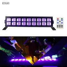 UV dmx stage light LED violet dj laser light club disco wallwash lighting for Halloween party remote purple par light недорго, оригинальная цена