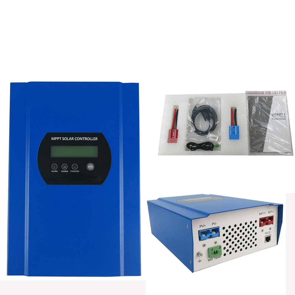 Contrôleur de Charge solaire 60A MPPT 12 V 24 V 48 V avec contrôleur de Charge de batterie de communication lcd RS232