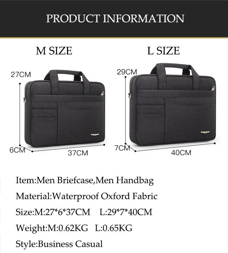 HTB1HSo.bfWG3KVjSZFgq6zTspXau Brand Waterproof Men Women 14 15.6 inch Laptop Briefcase Business Handbag for Men Large Capacity Messenger Shoulder Bag