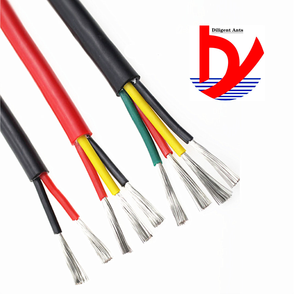 3-core heat-resistant <font><b>cable</b></font> Multi-core soft <font><b>silicone</b></font> wire 22AWG 20AWG 18AWG 17AWG 15AWG <font><b>13AWG</b></font> image