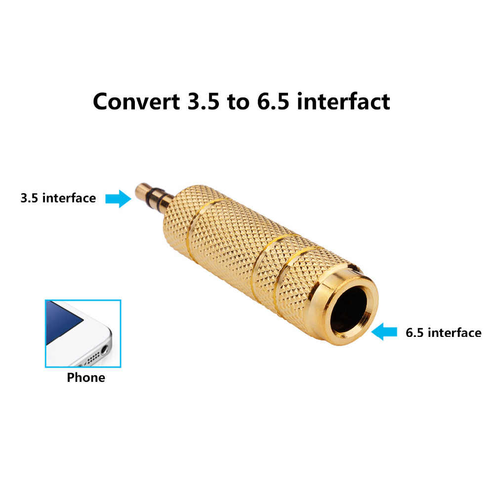 4pcs/set 3.5mm to 6.5mm 6.35mm Male to Feamle Audio Adapter 6.5 6.35 Plug 3.5 Jack Stereo AUX Converter for Speaker Mobile Phone