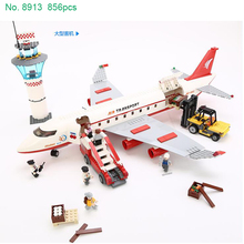 GUDI 2017 City Series 8913 Airplane toy Airport Building model block Sets DIY Bricks Classic Boys Toys