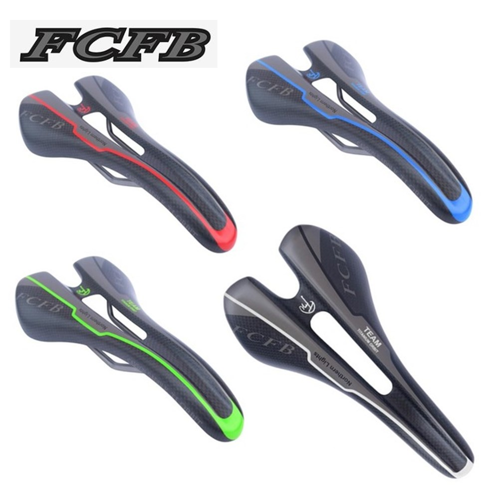 2017 FCFB carbon titanium saddle carbon fiber seat saddle road mtb bike seat cushion cycling parts red green blue gray free shipping 2016 united states fcfb fw green blue silver red carbon seatpost road mtb bike carbon seat post