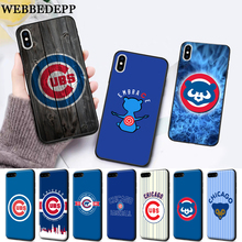 WEBBEDEPP Chicago Cubs Baseball Silicone soft Case for iPhone 5 SE 5S 6 6S Plus 7 8 11 Pro X XS Max XR