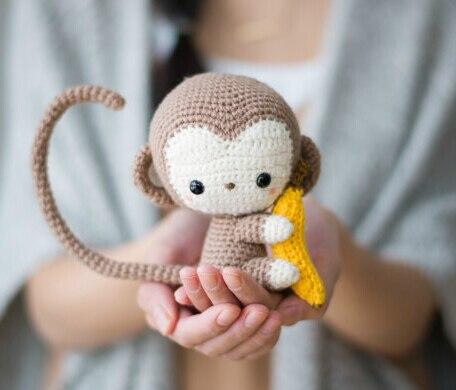 Aliexpresscom Koop Monkey Haak Gehaakte Pop Rammelaar Amigurumi