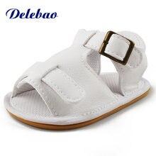 Delebao новый дизайн летняя детская обувь на резиновой подошве