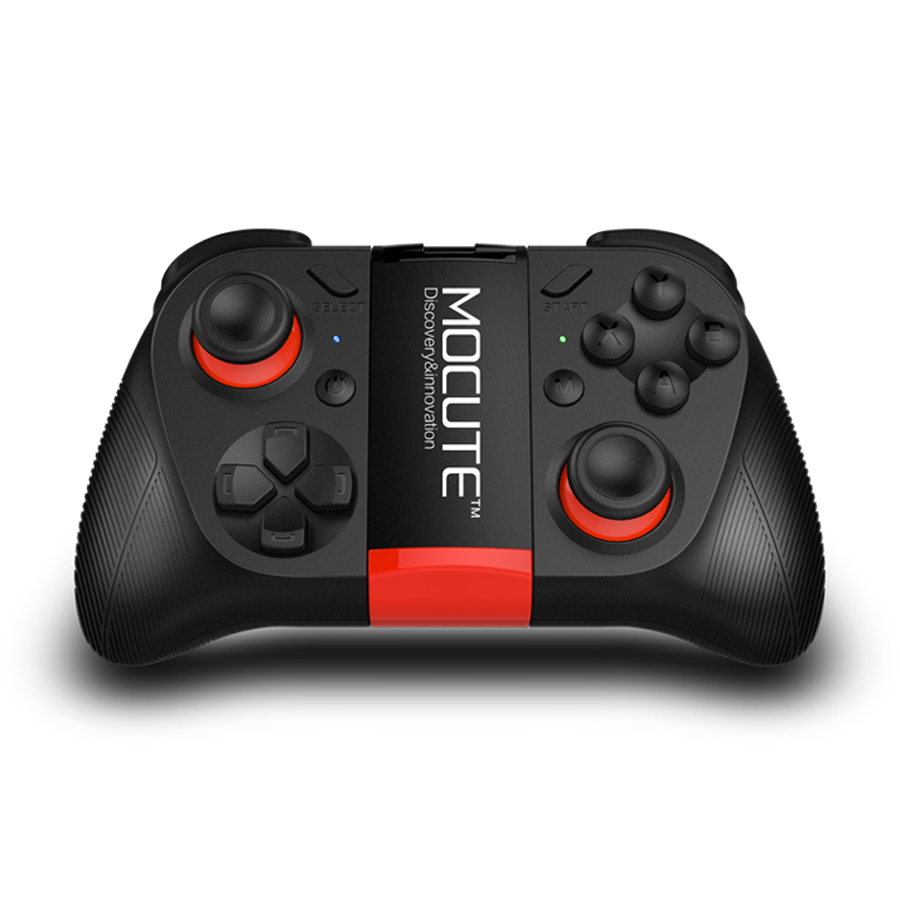 MOCUTE 050 Wireless Bluetooth Gamepad PC Game Controller Smart Game Handle for Smartphone TV Box with Foldable Holder Joystick