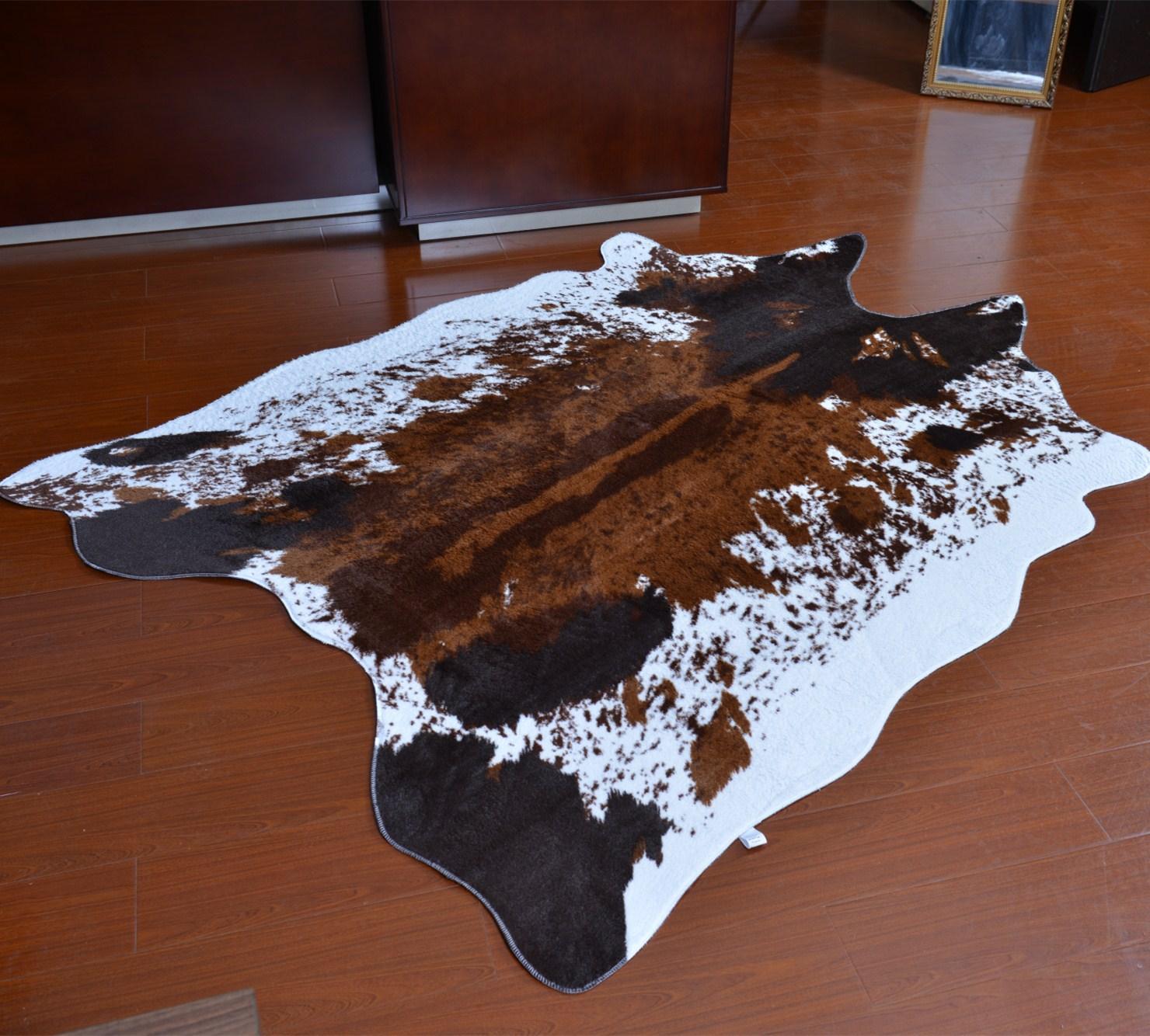PV velours Imitation peaux tapis et moquettes vache zèbre tapis 145*200 cm tapis pour salon chambre grande taille tapis alfombras