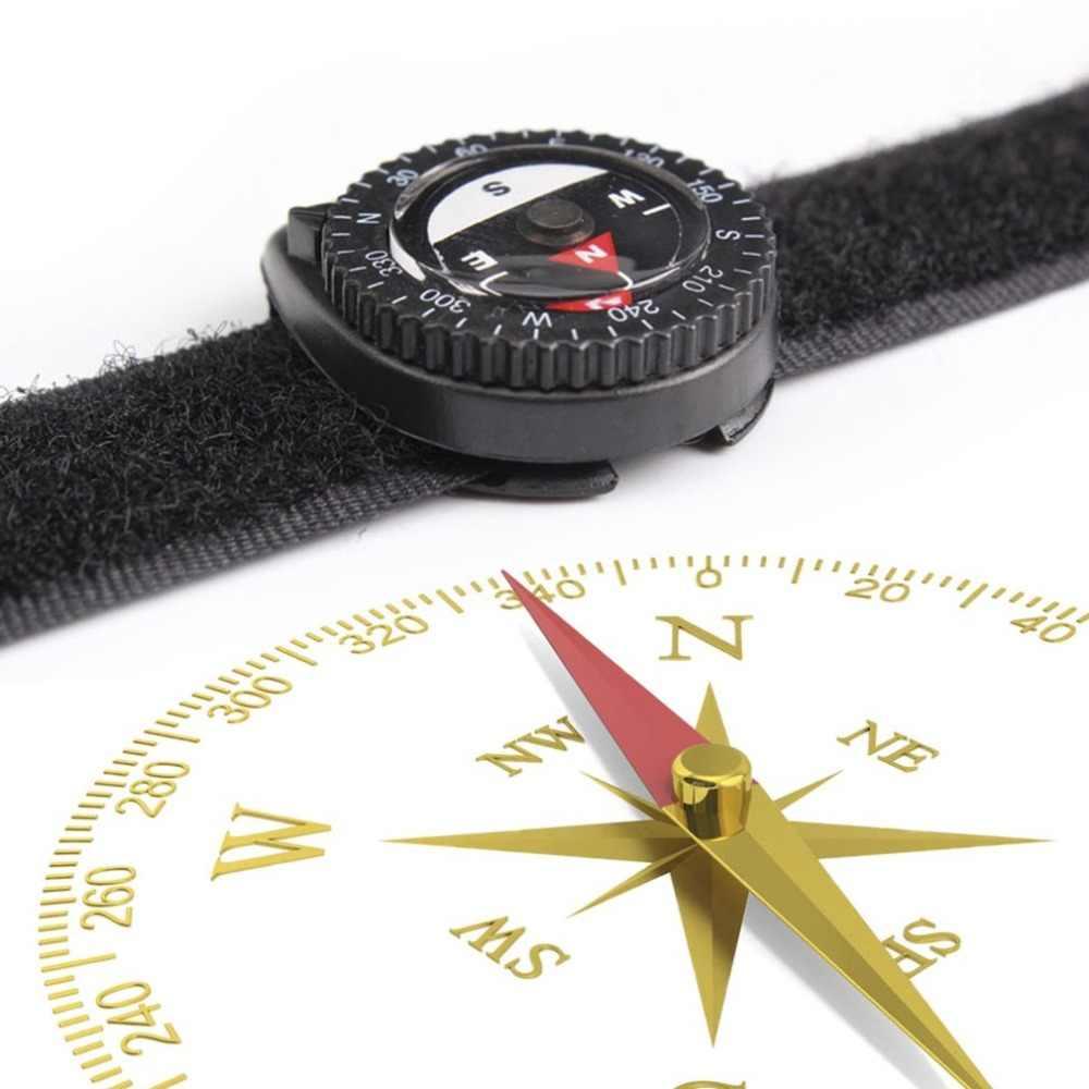 แบบพกพาเข็มทิศแฟชั่นคลิป - บนนาฬิกา Hiking เข็มทิศ GPS ไนลอนสร้อยข้อมือปิด