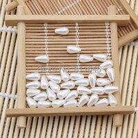 Różnorodność podwójne otwory krople wody Ivory ABS Koraliki, Imitacja Kule, Pearl Spacer paciorek DIY Tworzenia Biżuterii ustalenia