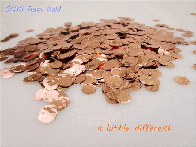 Size1cm10g Tasche Rosegold Mini Kreis Pvc Confetti Fur Ballon
