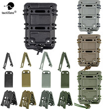 TACTIFANS Scorpion 5.56 Tactical Magazine Pouch Ambidextrous Modulaire Rifle Militaire Snelle Mag Pouch Riem Molle Mount Airsoft MG26(China)